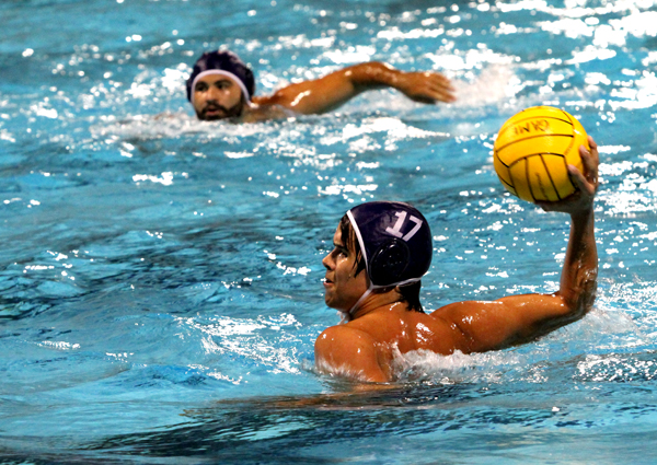 Sean Little takes a shot as Vanguard finishes their second season of men's water polo.